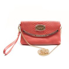 Michael Kors Snake-Embossed Small Pink Crossbody Bags Outlet