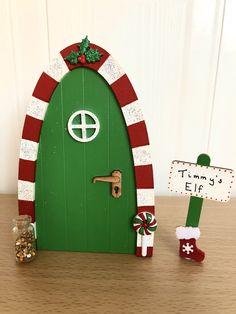 Paper Christmas Decorations, Christmas Lanterns, Christmas Door, Elf On The Self, The Elf, Elf Door, Candy House, Fairy Doors, Cardboard Crafts