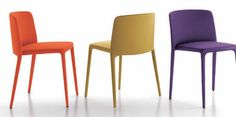 Contemporary stacking chair ACHILLE by J.M.Massaud MDF Italia