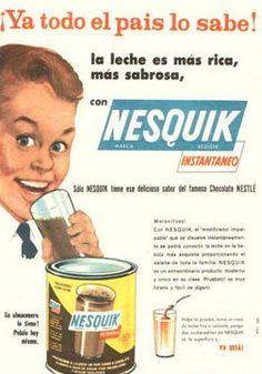 Cacao soluble Nesquik, años 60