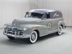 1948 Chevy Sedan Delivery. Someday Dennis's will be done. Love the two-tone.