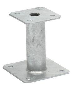 Pied de poteau fixe platine Simpson 150x150 mm ép. 4 mm - SIMPSON - Bois et panneaux - Distributeur de matériaux de construction - Point.P