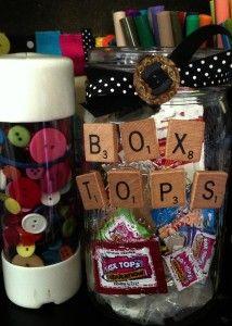 BoxTops for Education mason jar holder