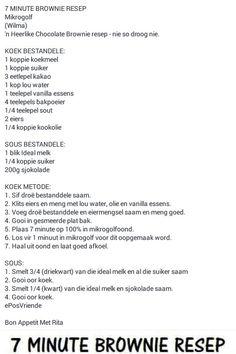 Mikrogolf Brownies Tart Recipes, Brownie Recipes, Sweet Recipes, Cooking Recipes, Wow Recipe, How To Read A Recipe, Microwave Cake, Microwave Recipes, Cake Decorating Icing