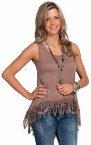 PPLA Women's Taupe Landslide Tunic Tank Top | Cavender's