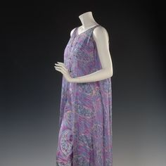 It's #nationaldepartmentstoreday - While we have many items in #Doris Duke #fashion collection from the best #couture houses of Europe many of her clothes were purchased from department stores like #saksfifthavenue #bonwitteller #bergdorfgoodman and I. Magnin. She bought this 1970s silk jumpsuit with sheer sleeveless over robe from Chicagos Marshall Field and Company.