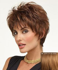 Short Curly Side Bang Human Hair Noble Charming Trendy Towheaded Capless Wig For Women