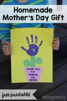 Fasking (ZLP PreK) Thank You For Helping Me Grow Craft - great for a Mother's Day gift or Teacher Appreciation Week! Mothers Day Crafts Preschool, Easy Mother's Day Crafts, Daycare Crafts, Sunday School Crafts, Fathers Day Crafts, Crafts For Kids To Make, Preschool Crafts, Diy Crafts, Easy Mothers Day Crafts For Toddlers