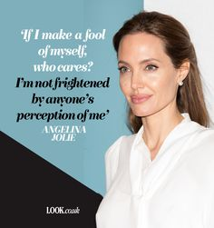 Angelina Jolie on making a fool of herself Sassy Quotes, Girl Quotes, Woman Quotes, Me Quotes, Qoutes, Angelina Jolie Quotes, Emma Watson Quotes, Strong Women Quotes, Mindset Quotes