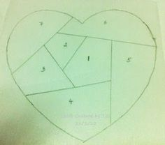 Craft Couture by T.C.: Tutorial:Paper Pieced Heart with Template