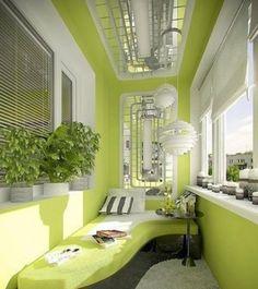 Classical green balcony