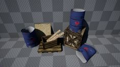 Barrels, Crates & Woods - Props by Level One Games in Props - Marketplace Industrial Games, Tower Defense, Unreal Engine, Game Dev, Wood Crates, First Game, Indie Games, Barrels