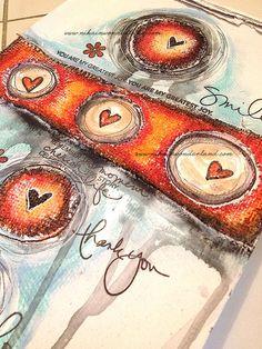 Art Journal Mixed Media - Original Art - Love Circles