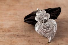 Sterling Silver Filigree Pendant  Passion  Handmade by kaneh, €216.00