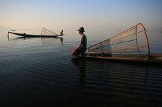 Intha fishermen. Burma. {photo by fredcan via flickr}