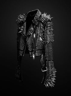 Mens Full Black Studded Jacket, Punk Silver Long Spiked Studded Leather Jacket, Party Jackets sold by Bishoo. Shop more products from Bishoo on Storenvy, the home of independent small businesses all over the world. Spiked Leather Jacket, Studded Jacket, Studded Vans, Cowhide Leather, Leather Men, Black Leather, Real Leather, Biker Leather, Dark Fashion