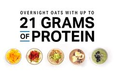 Recipes Breakfast Overnight Oats Overnight Oats With up to 21 Grams of Protein Oats Recipes, Whole Food Recipes, Cooking Recipes, Healthy Recipes, Freezer Recipes, Healthy Deserts, Bariatric Recipes, Freezer Cooking, Drink Recipes