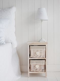 small bedside table with hearts 25cm white cottage bedroom furniture