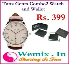 Tanz Gents Combo2 Watch and Wallet Rs. 399