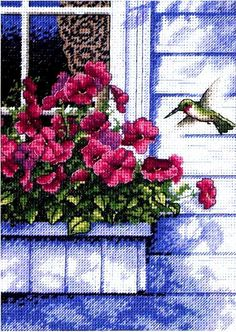 Dimensions Counted #crossstitch  FLOWERS AND HUMMINGBIRDS inspiration