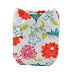 Alvababy Reusable Washable Infant Baby Cloth Diaper Cute Girl +1 Insert YA124 #ALVA
