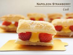 Mini Napoleon Strawberry with Lemon Curd ~ How about making this fabulous pastry which has the perfect blend of sweet and sour for your lovely Mother on the upcoming Mother's Day... Recipe: http://ncashpalace.blogspot.sg/2014/05/mini-napoleon-strawberry-with-lemon-curd.html