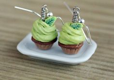 Polymer Clay Miniature Food Jewelry  Green Tea by MySecretCravings, $14.00