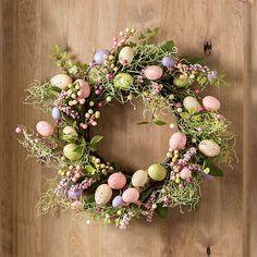 Floral Pastel Easter Egg Wreath | Kirklands