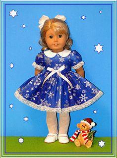 Christmas Hanukkah New Year Holiday Blue by Bestdollboutique, $16.99