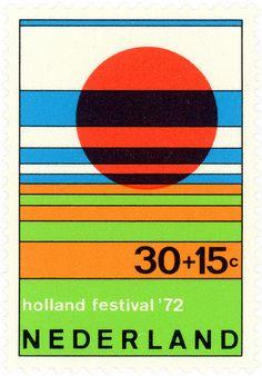 Netherlands postage stamp: Holland Festival c. 1972