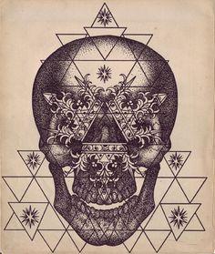 Tattoo Skulls by Daniel Trocchio - I love this dotwork style, they make the best tattoos: http://skullappreciationsociety.com/tattoo-skulls-daniel-trocchio/ via @Skull_Society