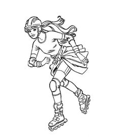 barbie ice skating coloring pages - photo#24