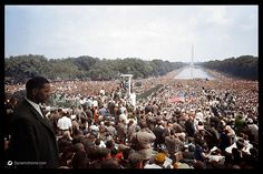 The March on Washington, Aug. 28, 1963. | 20 Historic Photos Shown In Extraordinary Color