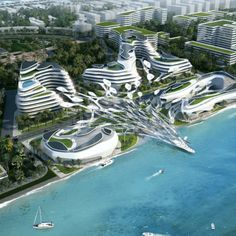"""The Beijing based architecture and interior design firm CAA Architects has designed """"Oceans Paradise – Maldives Airport Economic Zone Mixed-use Development"""" that located at the east coast of Hulhumale, adjacent to Male, the capital of the Maldives.   #future #futurearchitecture #maldives #architecture #architect #amazingarchitecture #design #interiordesign #interiordesigner #decor #homedecor #home #house #luxury #diy #travel #amazing #photography #realestate #casa #arquitecto #arquitectura #sea Futuristic City, Futuristic Architecture, Concept Architecture, Amazing Architecture, Landscape Architecture Design, Contemporary Architecture, Interior Architecture, Interior Design, Modern Architecture"""