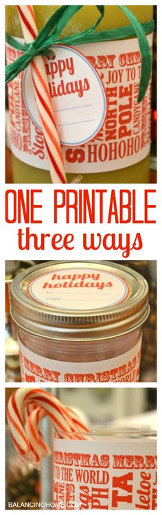 A fun wrapper and gift tag. So many fun ways to use it! Perfect for mason jar gifts, wrapping up candles or decorating.