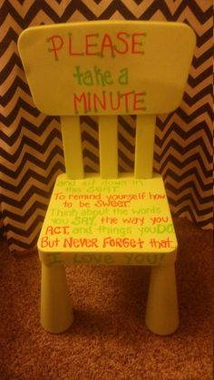 Time out chair by SnakesSnailsTails on Etsy & Time out Chairs for toddlers/kids by MMDesignsBoutique on Etsy ...