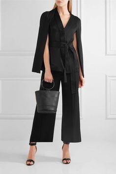 Chalayan - Cropped Twill Wide-leg Pants - Black - IT40