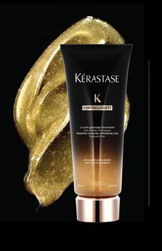 Chronologiste Regimen For All Hair Types by Kerastase  THE GOMMAGE  REVITALIZING AND EXFOLIATING SCALP TREATMENT For All Hair Types  Inspired by skincare, a breakthrough micro-fine pre-treat scrub that detoxifies, activates, and stimulates from scalp to ends to prepare the hair for Bain Creme Chronologiste.   Now at www.MixedCoSalon.com