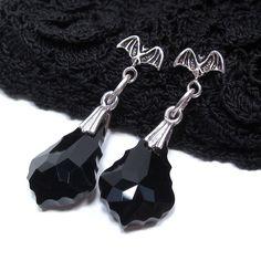 Goth+Jewelry+Sterling+Silver+Bat+Earrings+by+KathartesJewelry