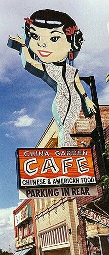 China Garden Cafe. Cedar City, Utah! I grew up riding my bike past this sign all the time!