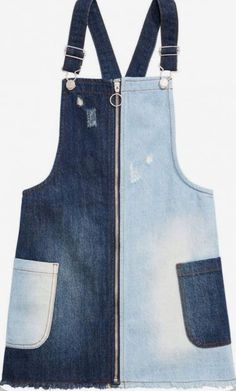Sewing Aprons, Sewing Clothes, Diy Clothes, Diy Jeans, Jean Crafts, Denim Crafts, Upcycled Crafts, Artisanats Denim, Jean Diy