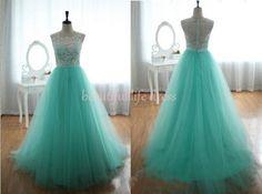 lace prom dress / lace evening dress / green by BeautifulLifeDress, $125.99