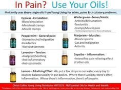 Young Living Essential Oils for pain.  For more info or to order please go to www.EssentialOilsEnhanceHealth.com