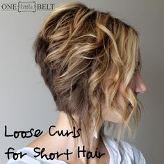 How to curl short hair- since my hair is getting to be long enough to do things like this soon :)