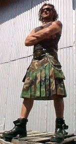 This is rather unorthodox, but I have to say that I love a man in a kilt. Do you know about Utilikilts? Nice. The photo? A Utilikilt. I believe the model is one of the founders of the company, actually.