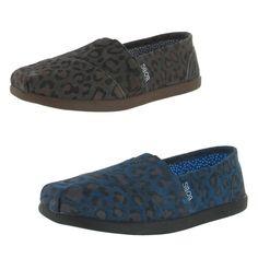 Bobs by Skechers Spot on Women's Flats Shoes Leopard Print Toms | eBay