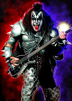 Gene On Stage by El-Jay-in-da-house on DeviantArt Gene Simmons Family, Gene Simmons Kiss, Kiss World, The Devil's Rejects, Kiss Members, Upcoming Concerts, Kiss Art, Best Rock Bands, Metal Albums