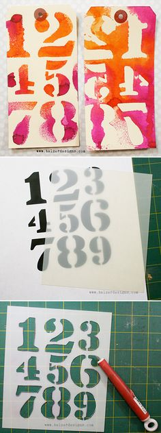 Tutorial: how to make your own hand-cut stencils (by Julie Fei-Fan Balzer) #masking #stencil #art http://balzerdesigns.typepad.com/balzer_designs/2012/11/art-journal-every-day-tutorial-cut-your-own-stencils.html