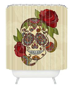 Another great find on #zulily! Sugar Skull Shower Curtain by DENY Designs #zulilyfinds