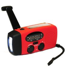 This Solar Hand Crank Self Powered Weather Radio also has functions of LED flashlight and power bank for Smart Phone. It provides power once you need! - Only 1 minute cranking you can AT LEAST have 20 minutes of radio or 30 minutes of flashlight power. Emergency Radio, Emergency Power, Solar Camping, Camping Gear, Camping Gadgets, Camping Essentials, Camping Survival, Solar Charger, Phone Charger